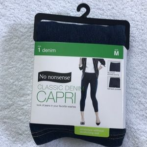 2c703622dc3cdf No Nonsense Pants | Womens Indigo Dark Denim Capri Medium 810 | Poshmark